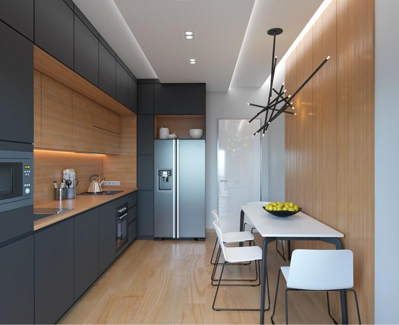 Intérieur de cuisine de style high-tech