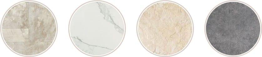natural stone on the kitchen floor