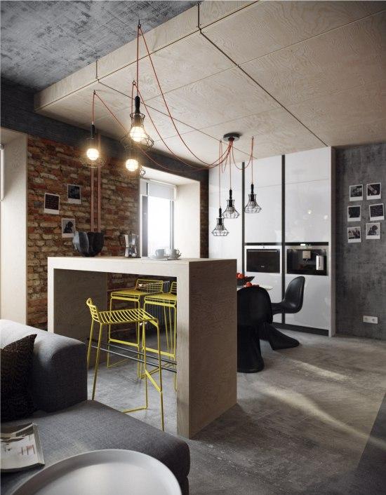 Cuisine high-tech et mezzanine