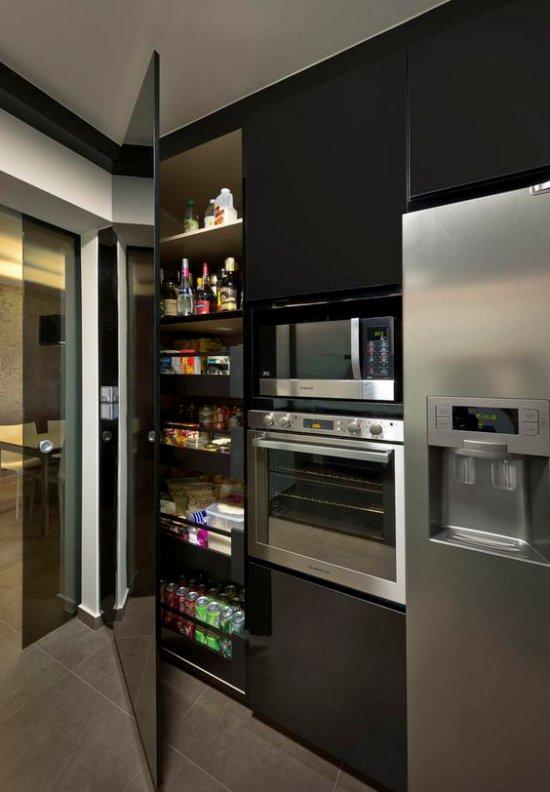 Set de cuisine dans un style high-tech
