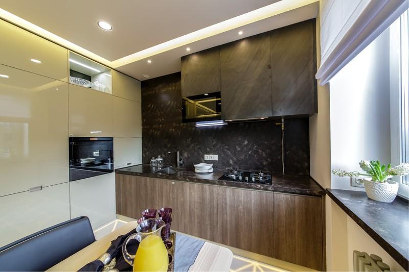 Plafond de cuisine high-tech