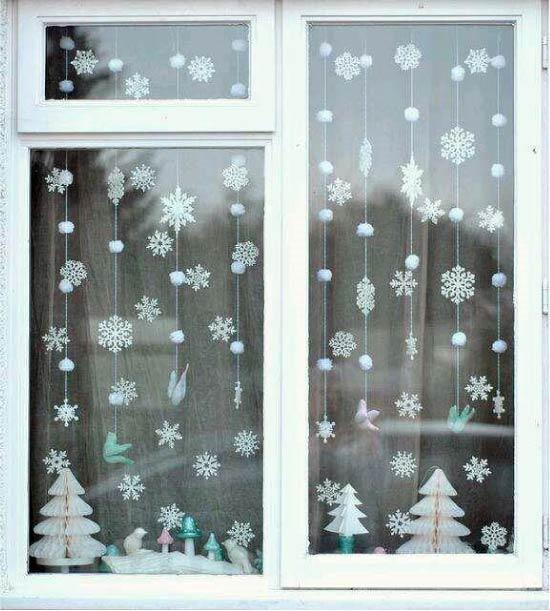 ablak dekoráció garland