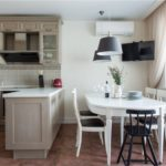 Bej Provence tarzı mutfak