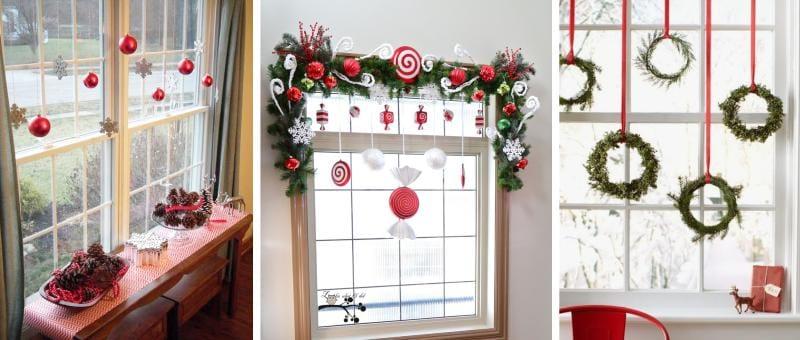 Újévi ablak dekoráció