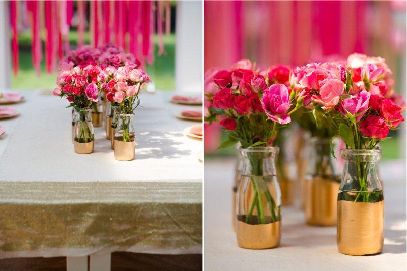 Esküvői üveg dekoráció