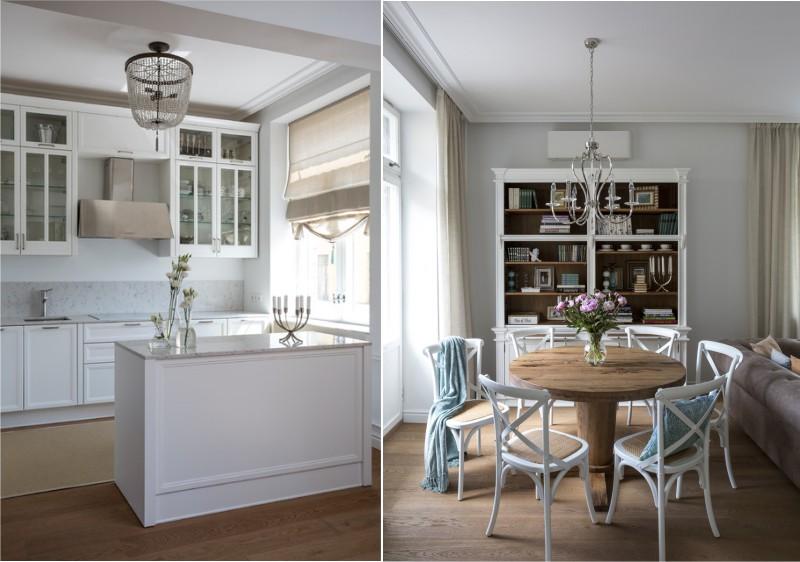 Interiøret i en 30-meter køkken-spisestue-stue