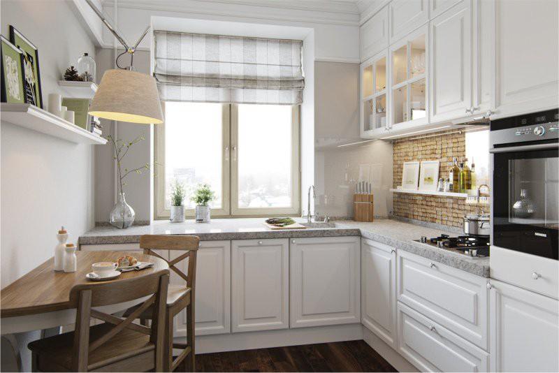 Asgari bir dekora sahip küçük mutfak