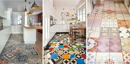Patchwork kuchyňské podlahy