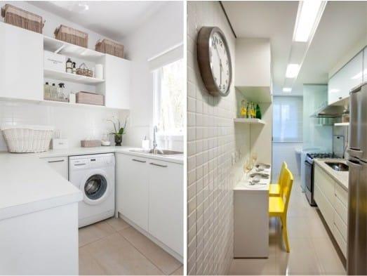 dlažba na podlaze v malé kuchyni