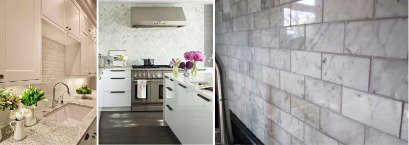 dlaždice pod kamenem v kuchyni