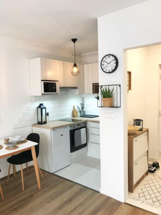 Küçük mutfakta dekor
