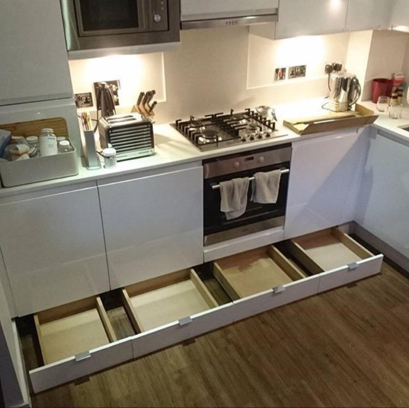 Mutfak tabanlarındaki çekmeceler