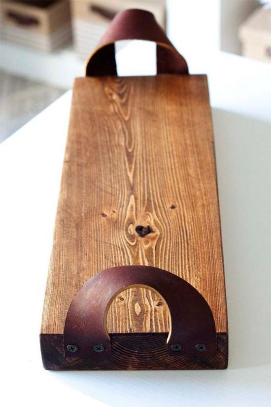 Fából készült fedélzeti tálaló tábla