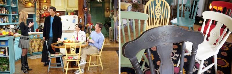 כסאות במטבח בסדרת הטלוויזיה