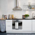 14 metrekarelik köşe mutfağı. İskandinav tarzı metre