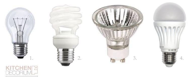 סוגים של מנורות