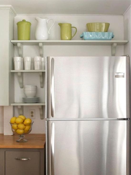 Buzdolabının üstünde depolama
