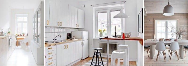 Les fenêtres de la cuisine sans rideaux
