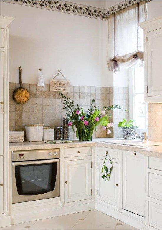 Petite cuisine blanche à la provençale