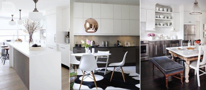 Cocina de color en estilo moderno.