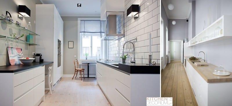A keskeny konyha falainak színe
