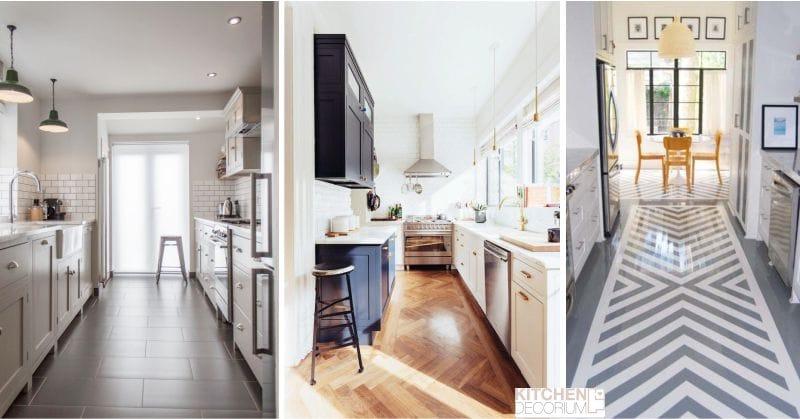 Design keskeny konyha-parketta, laminált, linóleum