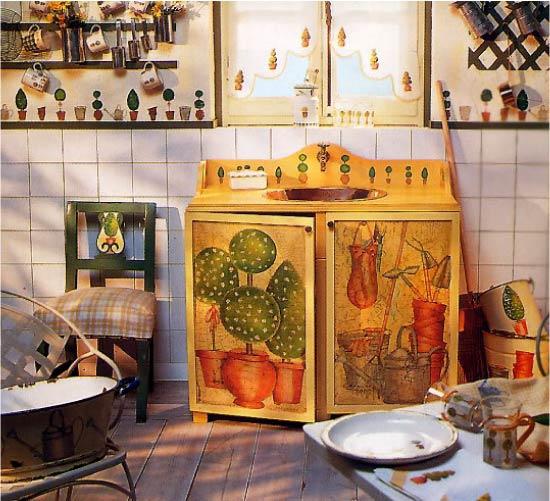 Mobles de cuina Decoupage