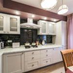 L-formet køkkenareal på 9 kvadratmeter. m