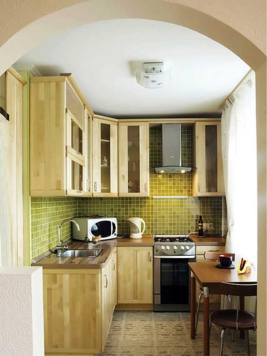 L-formet lille køkken