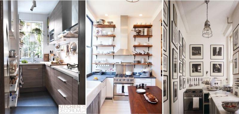 L-alakú keskeny konyha étkezőcsoport nélkül