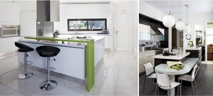 Métal à l'intérieur de la cuisine dans un style moderne