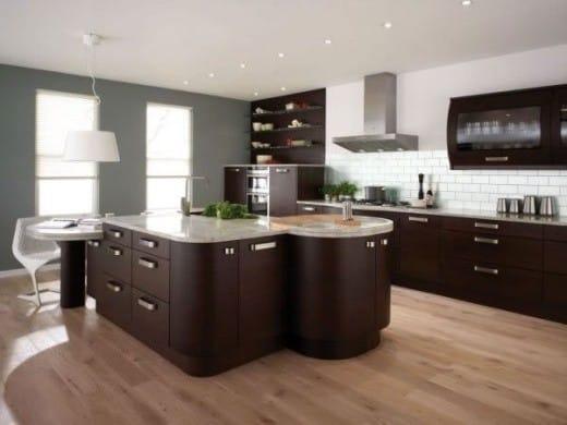 Moderno en el interior de la cocina.