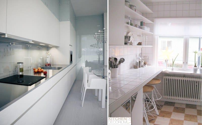 Het Interieur Van De Smalle Keuken De Beste Ideeen Voor Het Ontwerpen En Plaatsen Van Meubels 80 Foto S