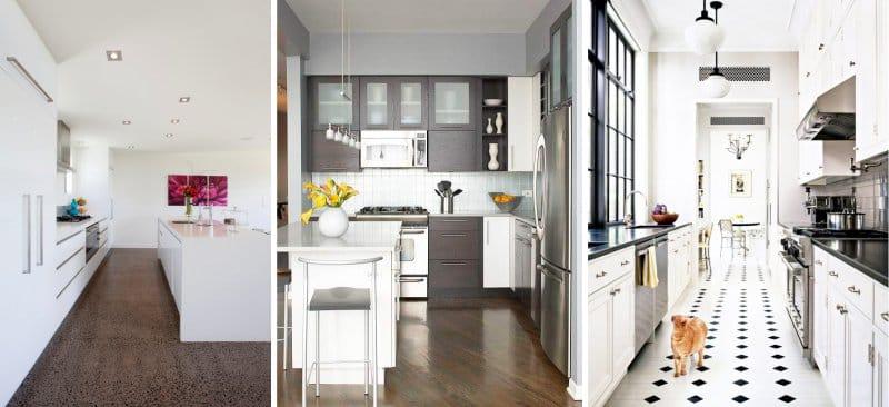 sol de cuisine dans un style moderne