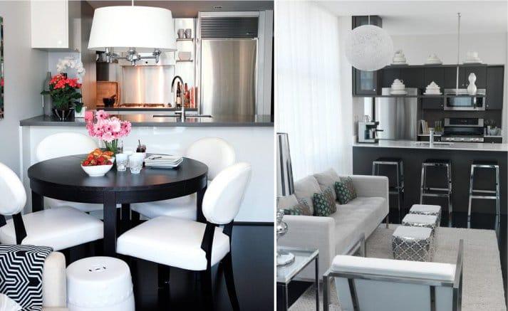 Estilo moderno en una pequeña cocina.