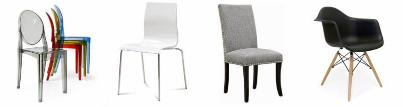 chaises pour la cuisine dans un style moderne