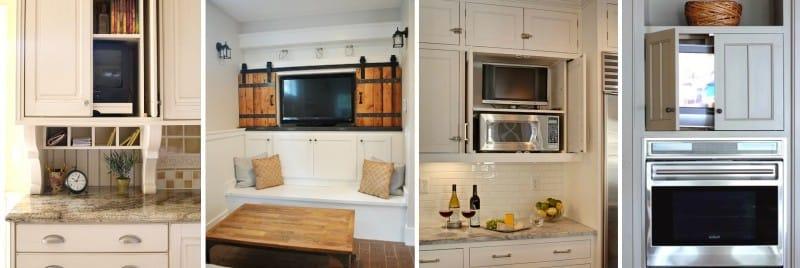TV egy zárható konyhában