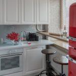 Hjørne køkken på 5,6 kvadratmeter. m