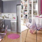 Hjørne køkken i en studie lejlighed