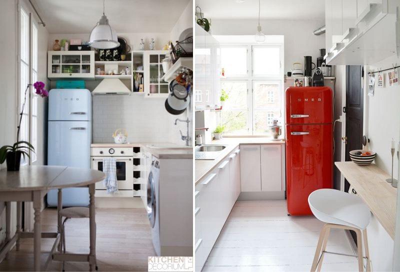 Sarok keskeny konyha étkezővel
