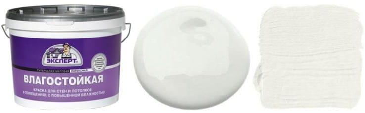 Hogyan kell festeni a mennyezetet a konyhában - víz alapú nedvességálló fehér matt festéket