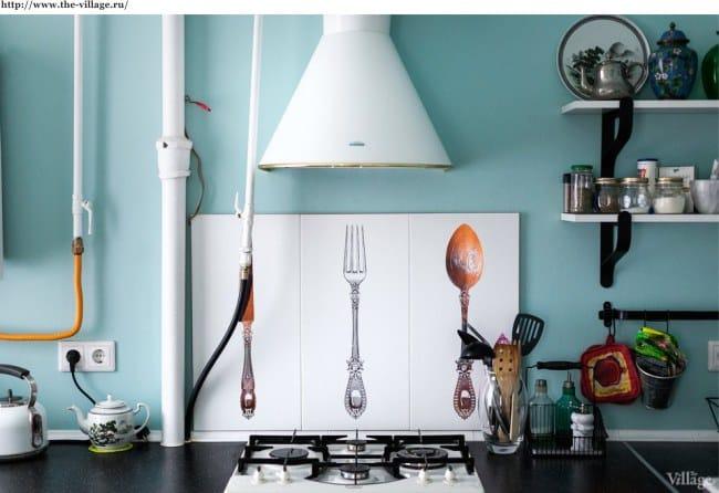 Kis konyha kialakítása gáztűzhellyel
