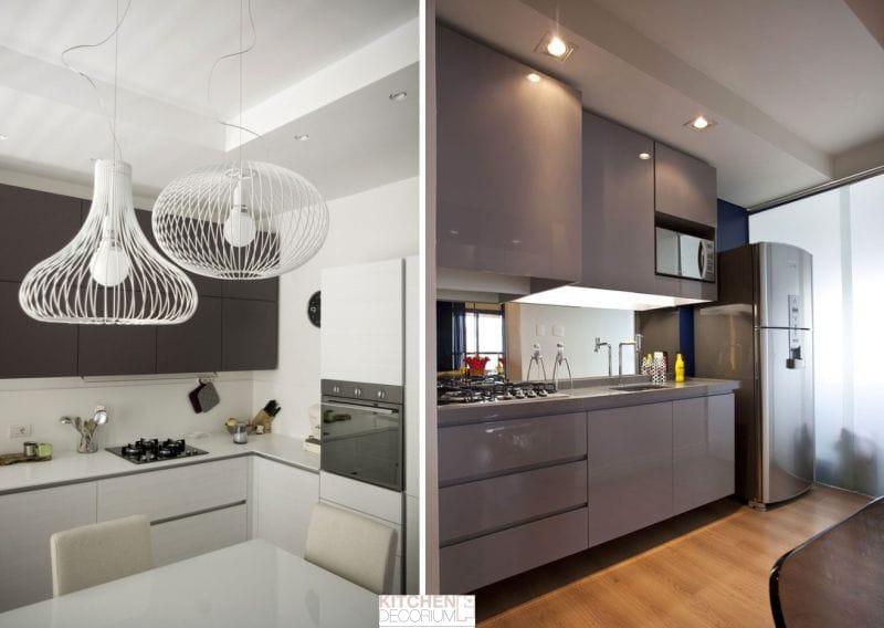 Gipszkarton mennyezet a konyhában - kétszintű