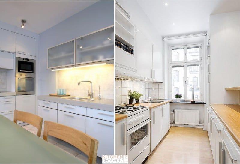 Gipszkarton mennyezet a konyhában - egyszintű