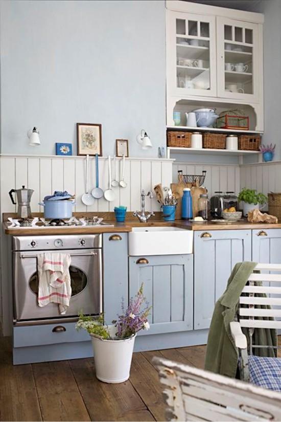 Provence blue kitchen