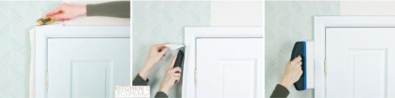 Hogyan ragasztó tapéta az ajtó közelében