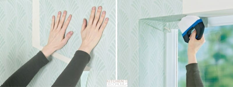 Hogyan ragasztó a tapéta tetején az ablak