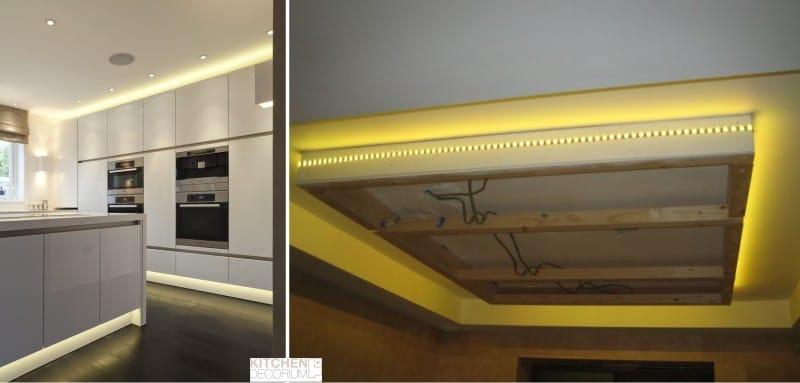 אורות LED התקרה מטבח