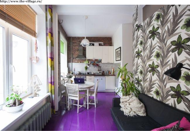 Kis és világos konyha-nappali