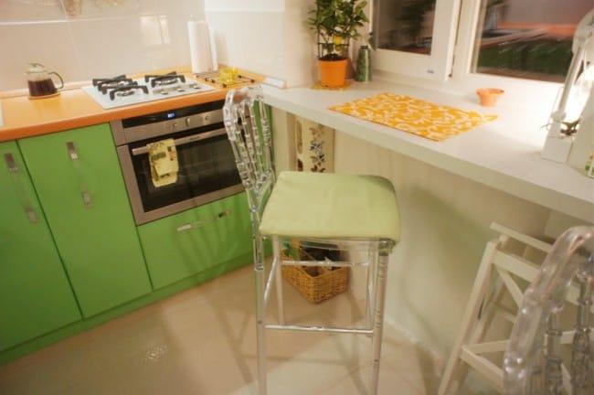 Kis konyha ablakpárkány - számlálóval